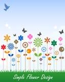 karciana kwiatu etykietki wiadomość prosta Zdjęcie Royalty Free