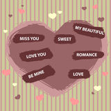 karciana miłość Ilustracji