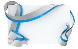 Karciana notatka z faborkiem na białym tle Fotografia Stock