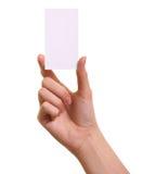 karciana ręka odizolowywająca papierowa kobieta Zdjęcia Stock