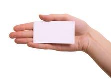 karciana ręka odizolowywająca papierowa kobieta Obraz Royalty Free