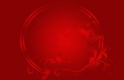 karciane bożych narodzeń kwiatów czerwieni gwiazdy royalty ilustracja