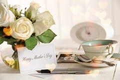 karciane dzień matki notatki róże s Zdjęcie Royalty Free
