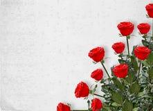 karciane zaproszenia czerwieni róże ilustracja wektor