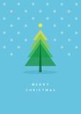 karcianego bożych narodzeń eps10 powitania ilustracyjny drzewa wektor Zdjęcie Royalty Free