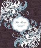 karcianego dzień ilustracyjny zaproszenia s valentine wektoru rocznika ślub Obraz Royalty Free