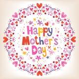 karcianego dzień szczęśliwa matka s Obrazy Stock