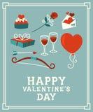karcianego dzień szczęśliwi valentines Zdjęcie Stock