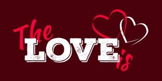 karcianego dzień szczęśliwi valentines wektor ulotki tło z sercami Obrazy Stock