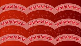 karcianego dzień szczęśliwi valentines wektor ulotki tło z sercami Obraz Stock
