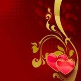 karcianego dzień czerwony s valentine Zdjęcia Royalty Free