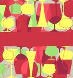 karcianego menu retro styl Obrazy Stock