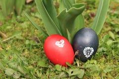 karcianego projekta Easter jajek trawy ilustracja Obraz Royalty Free