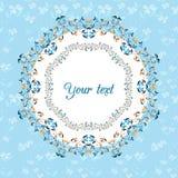 karcianego projekta kwiecista ilustracja twój Zdjęcie Royalty Free