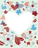 karcianej dzień projekta dreamstime zieleni kierowa ilustracja s stylizował valentine wektor Zdjęcia Stock