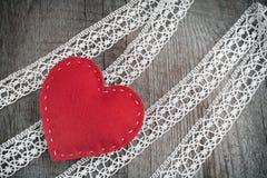 karcianej dzień projekta dreamstime zieleni kierowa ilustracja s stylizował valentine wektor Czerwony odczuwany serce na koronkow Obrazy Stock