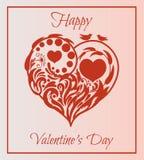 karcianej dzień projekta dreamstime zieleni kierowa ilustracja s stylizował valentine wektor ilustracja piękny kwiecisty kierowy  Zdjęcia Stock