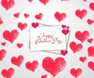 karcianej dzień projekta dreamstime zieleni kierowa ilustracja s stylizował valentine wektor serce z białym tłem Obraz Royalty Free