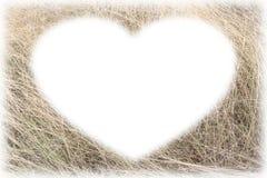 Karcianej ramy forma suchej trawy obrazek Fotografia Stock