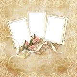 karcianej ramy wakacje różany rocznik Zdjęcia Royalty Free
