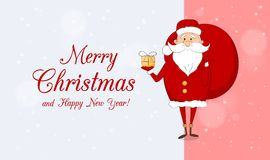 karciani boże narodzenia Claus karciany eps folujący Santa Obrazy Royalty Free