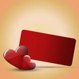 karciani czerwoni valentines Zdjęcie Stock