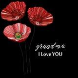 Karciani dni dziadkowie inskrypcja z miłością, kolorową Zdjęcie Royalty Free
