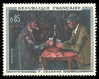 Karciani gracze Paul Cezanne zdjęcie stock