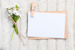 karciani kartonowi kwiaty Zdjęcie Stock