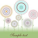karciani okregów kropki kwiaty Zdjęcia Royalty Free