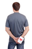 karciani ręk mężczyzna s valentine potomstwa fotografia stock
