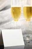 karciani szampańscy szkła dwa Zdjęcie Stock