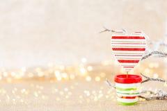 karciany bożego narodzenia powitanie Świąteczna dekoracja na bokex srebrze z powrotem zdjęcia stock