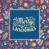 karciany bożego narodzenia powitanie Ornament dekoruje ilustracji