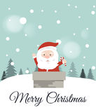 karciany bożego narodzenia powitanie Santa claus ilustracji