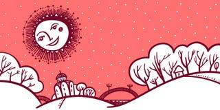 karciany bożego narodzenia powitanie ilustracja wektor