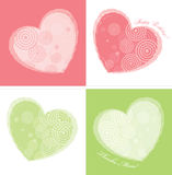 karciany colours projekta serce dwa Obraz Stock