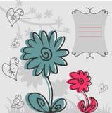 karciany dekoracyjny kwiat Royalty Ilustracja