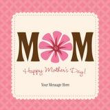 karciany dzień matki plakat s Zdjęcia Royalty Free