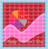 karciany dzień oddania kochanków s valentine Zdjęcia Stock