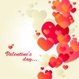 karciany dzień s valentine biel Obrazy Royalty Free