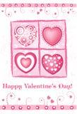 karciany dzień s valentine wektor Fotografia Stock
