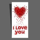 karciany dzień serc valentine Obrazy Royalty Free