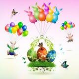 karciany Easter Zdjęcia Stock