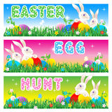 karciany Easter jajka polowania zaproszenia plakat Obrazy Royalty Free