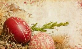 karciany Easter ornamentuje rocznika Obraz Royalty Free