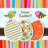karciany Easter powitania szablon Zdjęcia Royalty Free