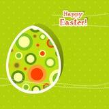 karciany Easter powitania szablon Zdjęcia Stock