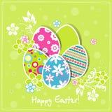 karciany Easter powitania szablon Zdjęcie Royalty Free