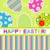 karciany Easter powitania szablon Fotografia Stock